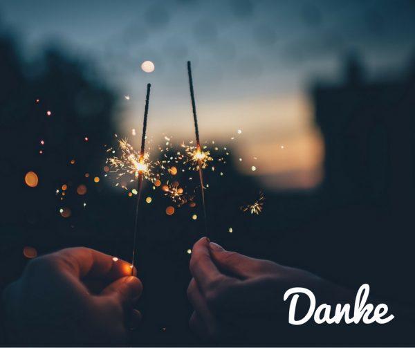 Feuerwerk, Sylvester, Danke